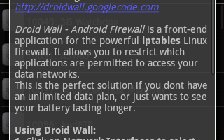 DroidWall – Android Firewall