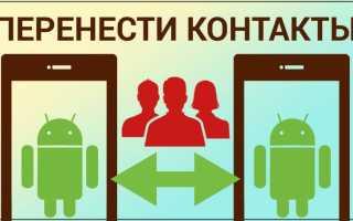 Как перенести контакты с любого телефона на смартфон с ОС Android