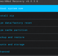CWM recovery (clockworkmod recovery)